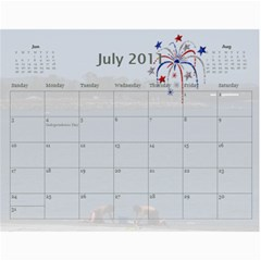 Calendar By Amy Barton   Wall Calendar 11  X 8 5  (12 Months)   4xbcw0388we7   Www Artscow Com Jul 2011