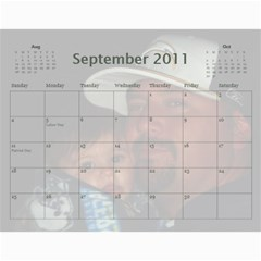 Calendar By Amy Barton   Wall Calendar 11  X 8 5  (12 Months)   4xbcw0388we7   Www Artscow Com Sep 2011