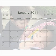 Calendar By Amy Barton   Wall Calendar 11  X 8 5  (12 Months)   4xbcw0388we7   Www Artscow Com Jan 2011