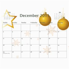 Calendar By Amy Barton   Wall Calendar 11  X 8 5  (12 Months)   4xbcw0388we7   Www Artscow Com Dec 2011