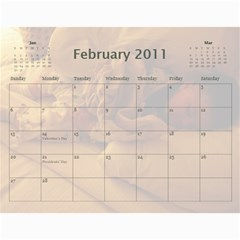 Calendar By Amy Barton   Wall Calendar 11  X 8 5  (12 Months)   4xbcw0388we7   Www Artscow Com Feb 2011