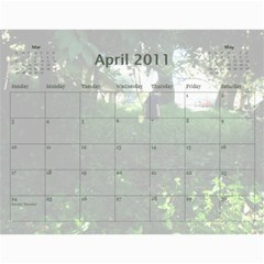Calendar By Amy Barton   Wall Calendar 11  X 8 5  (12 Months)   4xbcw0388we7   Www Artscow Com Apr 2011