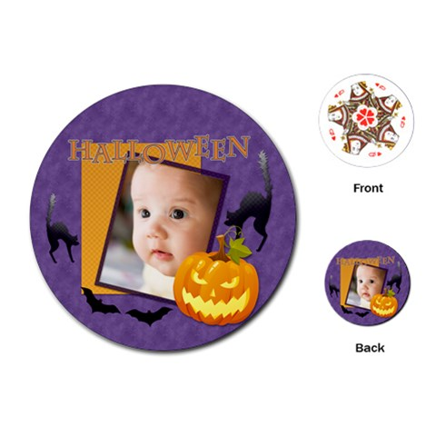 Halloween By Joely   Playing Cards (round)   1z87he7z3vjf   Www Artscow Com Front