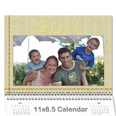 Our Calendar By Heidi Short   Wall Calendar 11  X 8 5  (12 Months)   8pc9j9xn7dlr   Www Artscow Com Cover