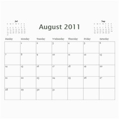 Our Calendar By Heidi Short   Wall Calendar 11  X 8 5  (12 Months)   8pc9j9xn7dlr   Www Artscow Com Aug 2011