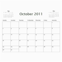 Our Calendar By Heidi Short   Wall Calendar 11  X 8 5  (12 Months)   8pc9j9xn7dlr   Www Artscow Com Oct 2011