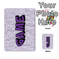 Memory Game With Your Own Photos    Playing Cards By Carmensita   Playing Cards 54 Designs   Juulj0kswdpp   Www Artscow Com Back
