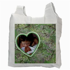 I Heart You This Much Green Pink Double Recycle Bag 2 Sides By Ellan   Recycle Bag (two Side)   U8c396eyw3fz   Www Artscow Com Back