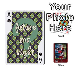 Ace Family Playing Cards By Shari   Playing Cards 54 Designs   5uykd8s4jhd9   Www Artscow Com Front - ClubA