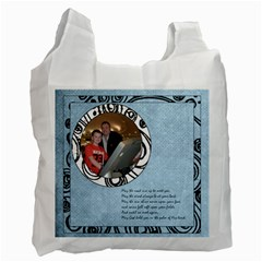 Irish Blessing  Recycle Bag May The Road Rise Up To Meet You By Catvinnat   Recycle Bag (two Side)   Rc5136iv3tal   Www Artscow Com Front