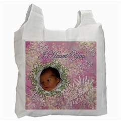 I Heart You This Much Pink Double Recycle Bag 2 Sides By Ellan   Recycle Bag (two Side)   D1kgqdfr17io   Www Artscow Com Front