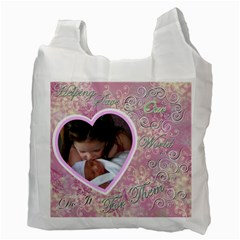 I Heart You This Much Pink Double Recycle Bag 2 Sides By Ellan   Recycle Bag (two Side)   D1kgqdfr17io   Www Artscow Com Back