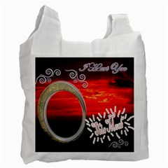 I Heart You This Much Sky Double Recycle Bag 2 Sides By Ellan   Recycle Bag (two Side)   4pox2h0i4v71   Www Artscow Com Front