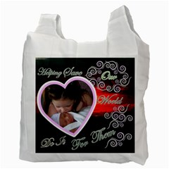 I Heart You This Much Sky Double Recycle Bag 2 Sides By Ellan   Recycle Bag (two Side)   4pox2h0i4v71   Www Artscow Com Back