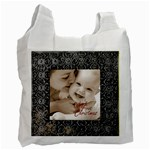 Silver frame baby s first christmas  recycle bag - Recycle Bag (Two Side)