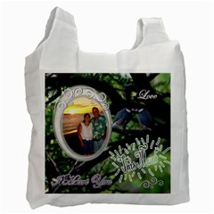 I Heart You This Much Love Birds Honeymoon Recycle Bag 2 Sides By Ellan   Recycle Bag (two Side)   G141ar8155zt   Www Artscow Com Front