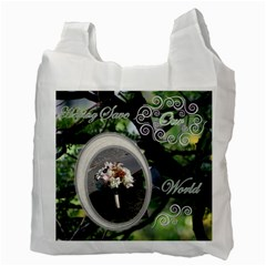 I Heart You This Much Love Birds Honeymoon Recycle Bag 2 Sides By Ellan   Recycle Bag (two Side)   G141ar8155zt   Www Artscow Com Back