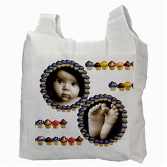 Cupcakes Family  Recycle Bag By Catvinnat   Recycle Bag (two Side)   Tvpd2zuglo7u   Www Artscow Com Back