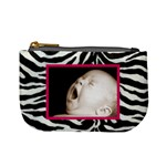 zebra pink mini coin purse