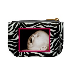 Zebra Pink Mini Coin Purse By Catvinnat   Mini Coin Purse   9zgdfhfotybr   Www Artscow Com Back