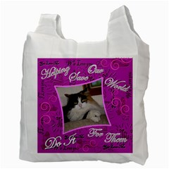 Love My Pet This Much Double Recycle Bag 2 Sides By Ellan   Recycle Bag (two Side)   4pav8i7rddjx   Www Artscow Com Back