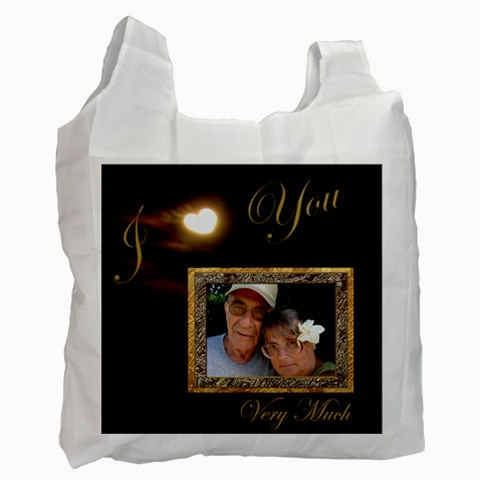 I Heart You Moon Love Gold Recycle Bag By Ellan   Recycle Bag (one Side)   Qjea3z1ewq2q   Www Artscow Com Front