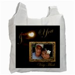 I Heart You moon love gold recycle bag - Recycle Bag (One Side)