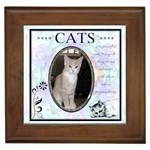 Cats are Peaceful Framed Tile
