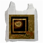 I Heart You moon 15 love gold recycle bag - Recycle Bag (One Side)