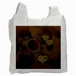 I Heart You moon 19 love gold recycle bag - Recycle Bag (One Side)