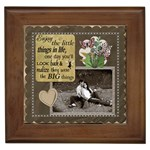 Enjoy the Little Things Framed Tile