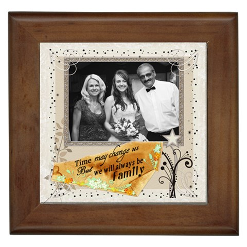 Always Be Family Framed Tile By Lil    Framed Tile   Rl90u2x2v55h   Www Artscow Com Front