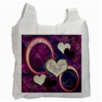 I Heart You moon 25 pink love recycle bag - Recycle Bag (One Side)