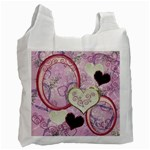 I Heart You moon 27 pink love recycle bag - Recycle Bag (One Side)