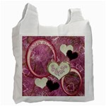 I Heart You moon 28 pink love recycle bag - Recycle Bag (One Side)