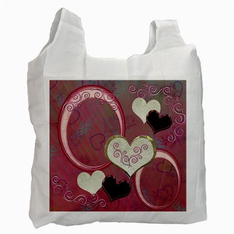 I Heart You Moon 29 Pink Love Recycle Bag By Ellan   Recycle Bag (one Side)   E2v11f6fc3pi   Www Artscow Com Front