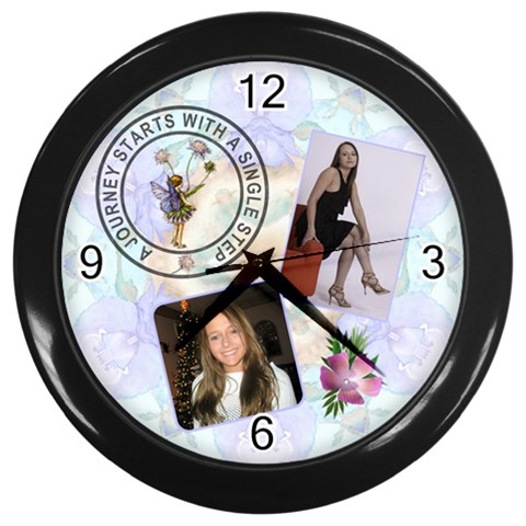 Lifes Journey Wall Clock By Lil    Wall Clock (black)   25hdzxdcyqoz   Www Artscow Com Front