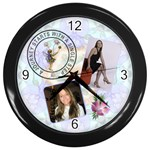 Lifes Journey Wall Clock - Wall Clock (Black)