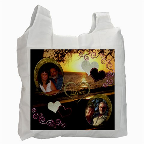 I Heart You 31 Love Recycle Bag By Ellan   Recycle Bag (one Side)   Pq1915u8hmvd   Www Artscow Com Front