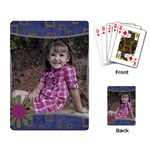 Playing cards with flower - Playing Cards Single Design