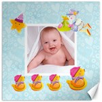 Blanky Bunny Ducks in a row nursery canvas 2 20 x 20 - Canvas 20  x 20