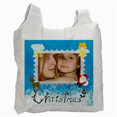 Christmas By Wood Johnson   Recycle Bag (two Side)   Diknmmhybluq   Www Artscow Com Front