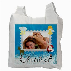 Christmas By Wood Johnson   Recycle Bag (two Side)   Diknmmhybluq   Www Artscow Com Back