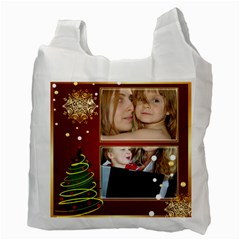 Christmas By Wood Johnson   Recycle Bag (two Side)   Htrh1c7bfmmb   Www Artscow Com Back