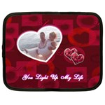 You Light Up my Life Heart 13 inch (XL) Netbook Case - Netbook Case (XL)