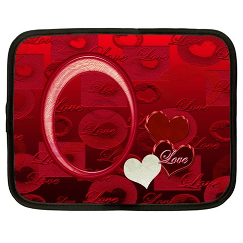 I Heart You Moon 10 13 Inch (xl) Netbook Case By Ellan   Netbook Case (xl)   Ahzmswieuhpk   Www Artscow Com Front