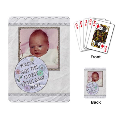 Cutest Baby Face Playing Cards By Lil    Playing Cards Single Design   Fg27gimdmdx7   Www Artscow Com Back