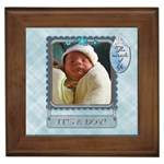 It s A Boy Framed Tile