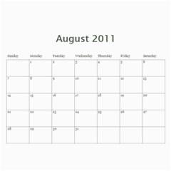 Calendar 2011 By Monica   Wall Calendar 11  X 8 5  (12 Months)   Horw44q11984   Www Artscow Com Aug 2011