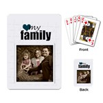 My Family Cards white - Playing Cards Single Design
